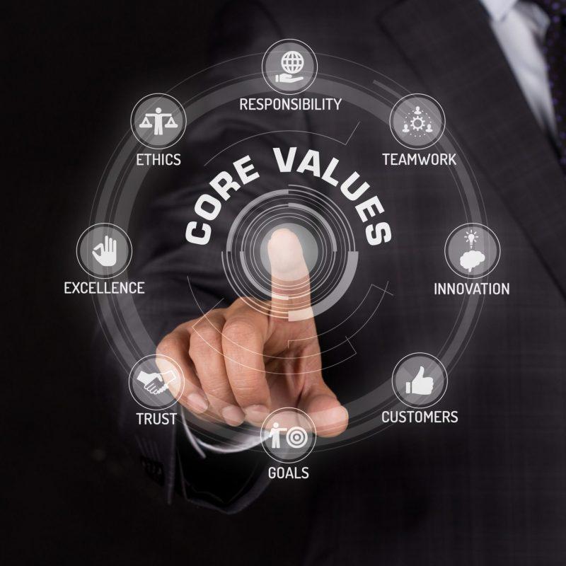 CORE VALUES TECHNOLOGY COMMUNICATION TOUCHSCREEN FUTURISTIC CONCEPT